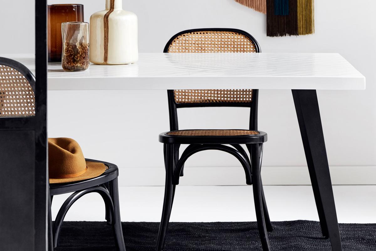 moderen Stuhl für das Esszimmer aus Wiener Geflecht