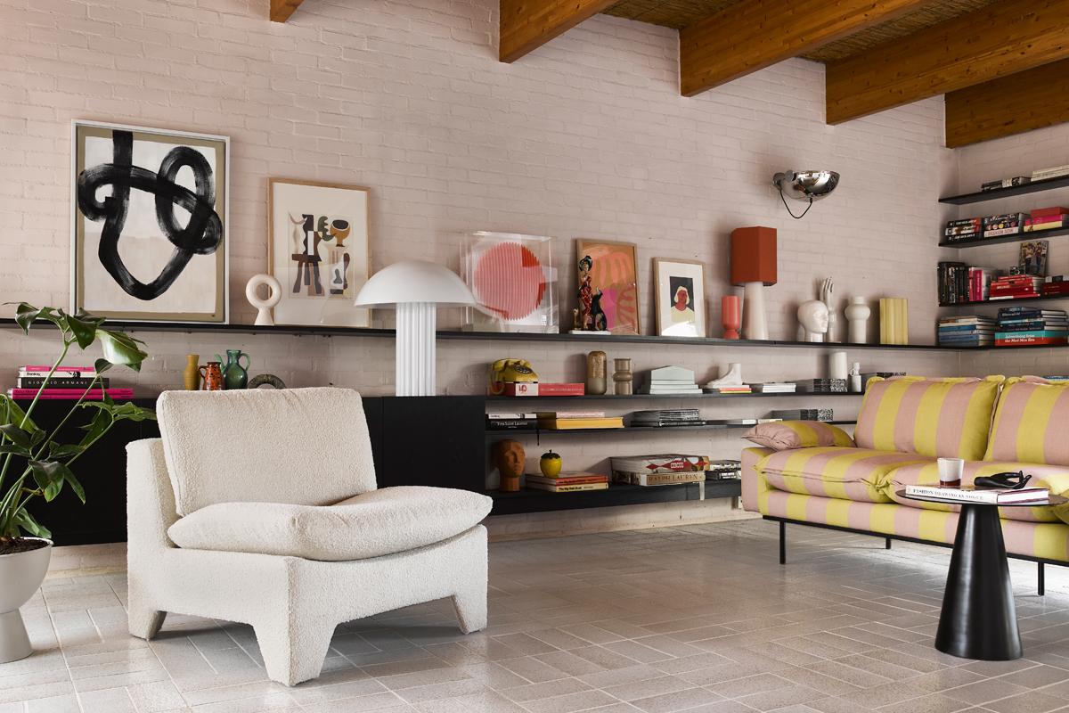 Gestreiftes Sofa von HK Living kaufen