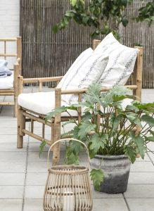 Balkon gestalten mit Bambus