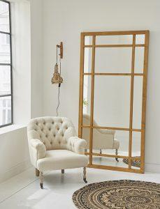 Wenn ein großer Spiegel mal keine Wanddeko im Wohnbereich ist...
