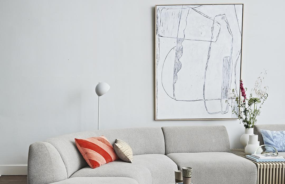 Außergewöhnliche Wandgestaltung fürs Wohnzimmer