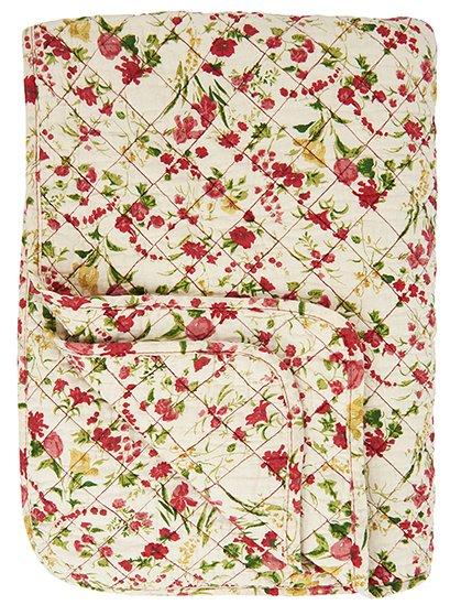 IB Laursen Quilt Patchwork grau weiß Tagesdecke Plaid 130 x 180 cm
