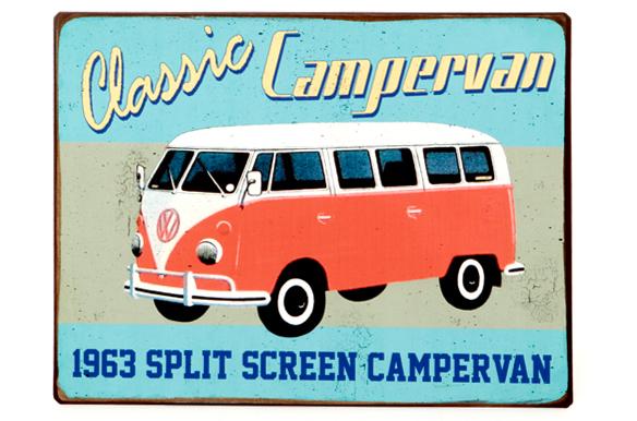 metallschild vw caravan car m bel. Black Bedroom Furniture Sets. Home Design Ideas