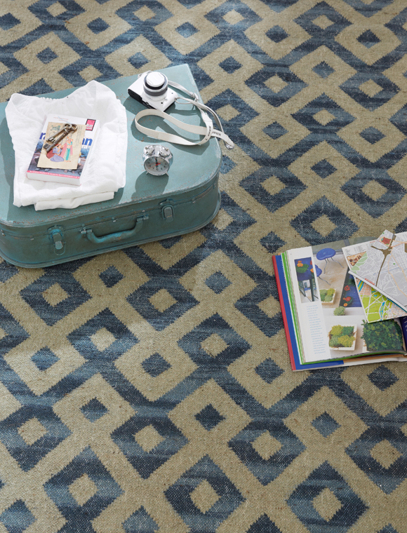 teppich gro gemustert blau natur car m bel. Black Bedroom Furniture Sets. Home Design Ideas