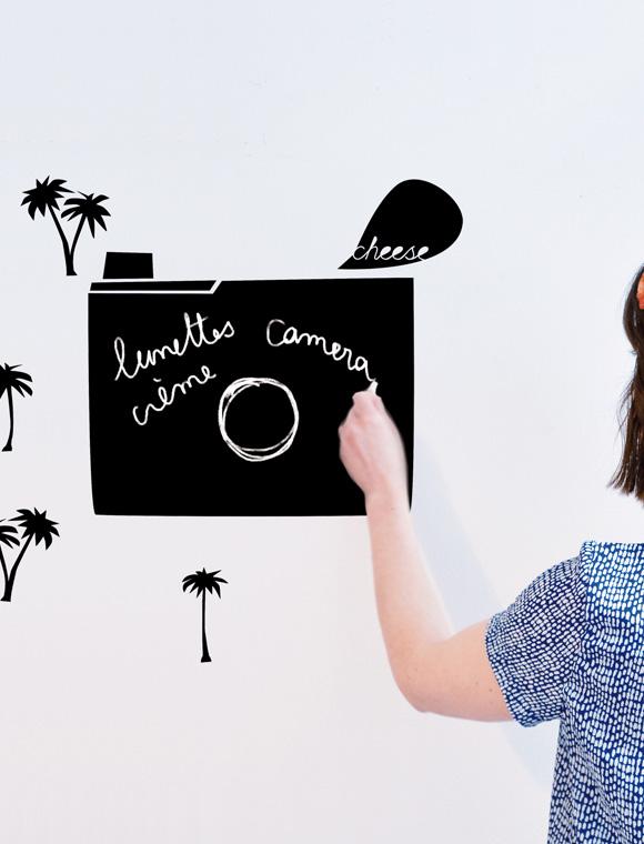 tafelsticker fotoapparat von mimi 39 lou car m bel. Black Bedroom Furniture Sets. Home Design Ideas