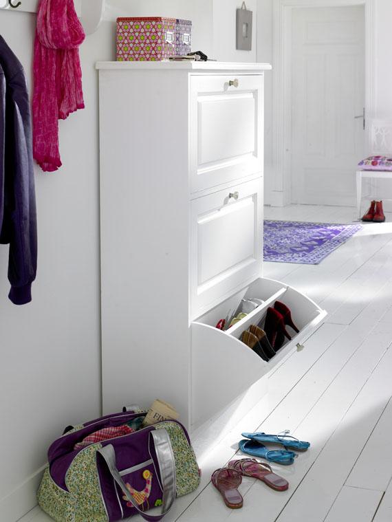 schuhkommode wei car m bel. Black Bedroom Furniture Sets. Home Design Ideas