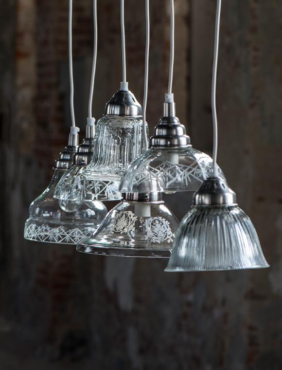 Modernistisk Lampe Glas geschliffen von Ib Laursen | car möbel SO31